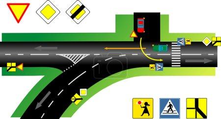 Illustration for Sobiecin street, Polmd - Royalty Free Image