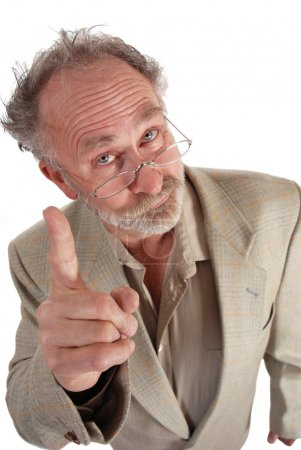 Professor pointing
