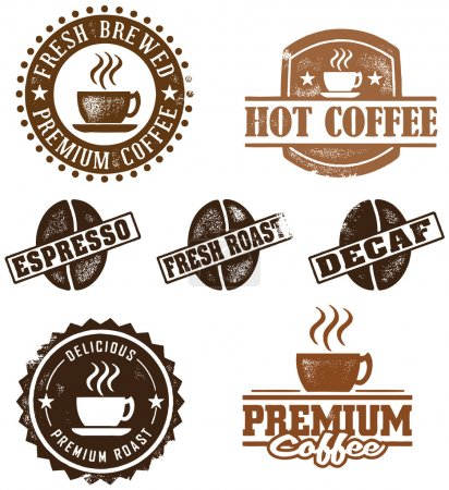 Vintage Style Coffee Stamps
