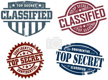 Top Secret & Classified Stamps