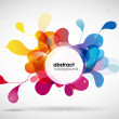 Abstract colored background with circles....