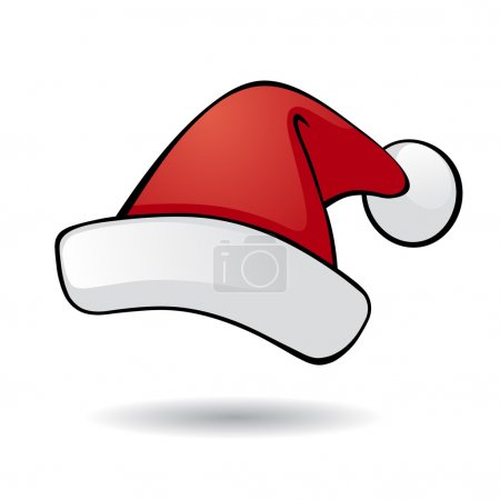 Illustration for Santa vector hat. - Royalty Free Image