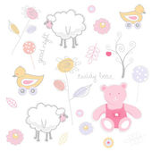 Seamless funky cartoon pattern