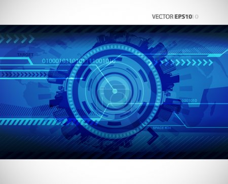 Illustration for Abstract blue technology illustration with place for your text. - Royalty Free Image