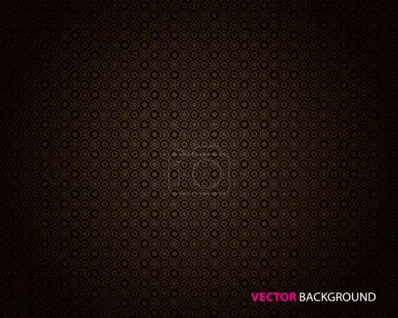 Illustration for Abstract dark brown background with circles. - Royalty Free Image