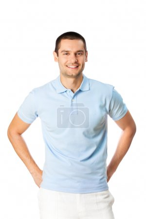Photo for Portrait of happy smiling man, isolated on white - Royalty Free Image