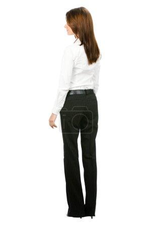 Businesswoman over white