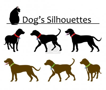 Set of Dog's Silhouettes