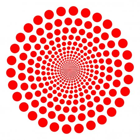 Illustration for Red vector dotted tunnel twirl - Royalty Free Image