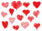 Scribbled hearts