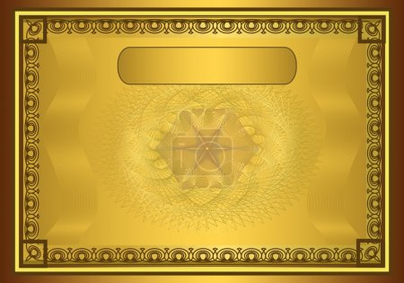 Photo for Raster Certificate Diploma gold frame - Royalty Free Image