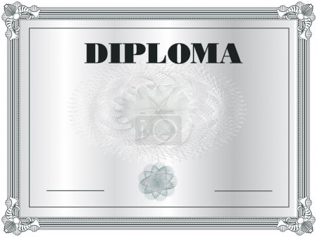Illustration for Diploma Frame vector template - Royalty Free Image