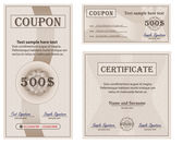 Vector Coupon Certificate collection paper template