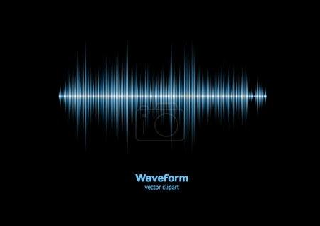 Illustration pour Forme d'onde bleue fraîche nette - image libre de droit