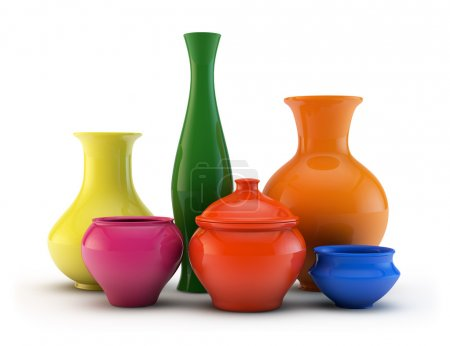 Composition of color vases