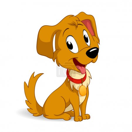 Illustration for Vector illustration. Cute cartoon vector puppy dog - Royalty Free Image