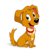 Cute cartoon vector puppy dog