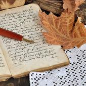 "Постер, картина, фотообои ""Осень дневник"""