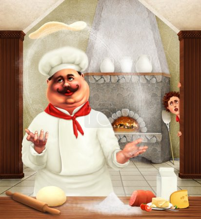Photo for Pizza chef - Royalty Free Image