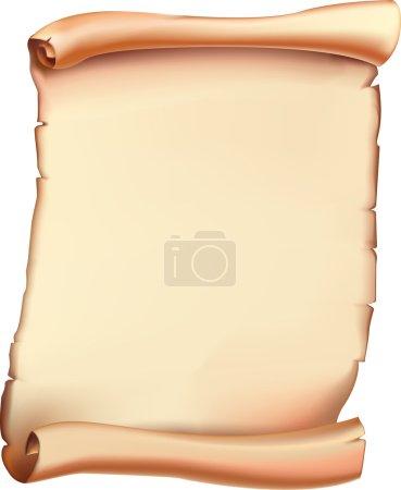 Illustration pour Ancien rouleau. Vecteur . - image libre de droit