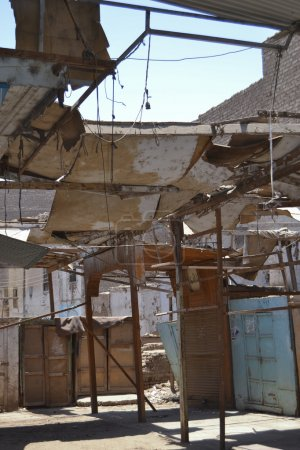 Buildings in a poor area of an african town