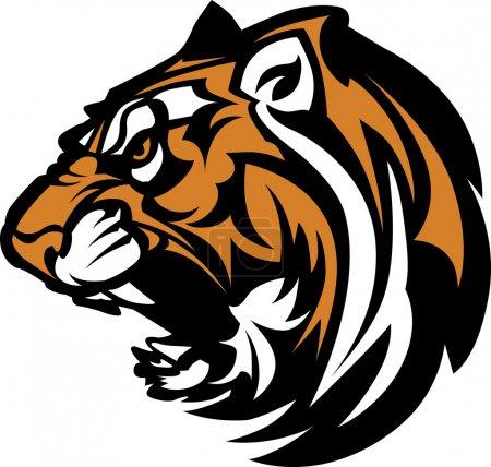 Tiger Mascot Graphic