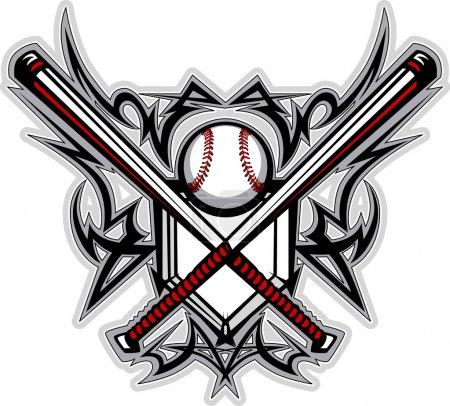 Baseball Softball Bats Tribal Graphic Vector Image