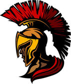 Graphic Trojan or Spartan Vector Mascot with Headdress