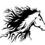 Tattoo style horse...