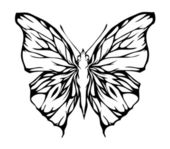 Nice airy butterfly (vector)