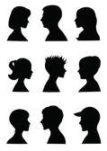 Head's silhouettes profiles