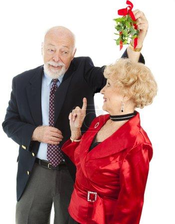 Senior Casanova with Mistletoe