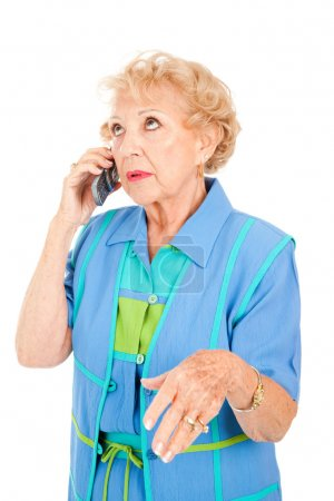 Senior Woman Gossips on Cellphone