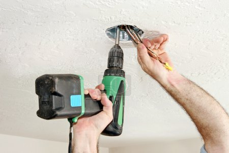 Electrician With Drill