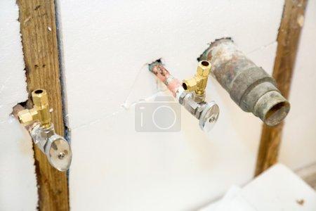 Plumbing Fixtures in Insulated Wall