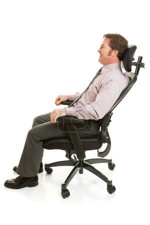 Relaxing in Ergonomic Chair