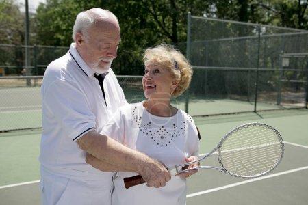 Active Seniors Play Tennis