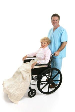 Disabled Senior & Nurse Profile