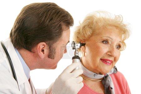 Senior Lady Gets Checkup