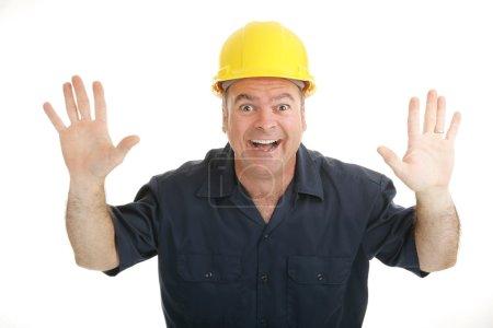 Construction Worker Excitement