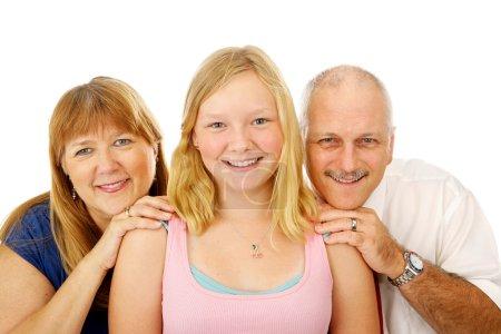 Blond Blue Eyed Family