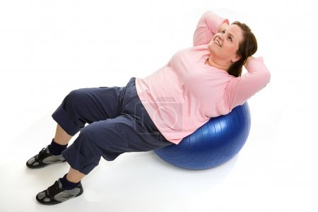 Crunches on Pilates Ball