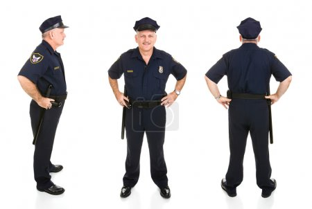 Police Officer Three Views