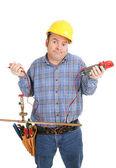 Elektrikář zmateni instalatérství