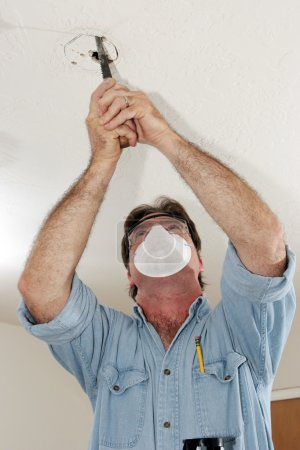 Sawing Hole In Plaster