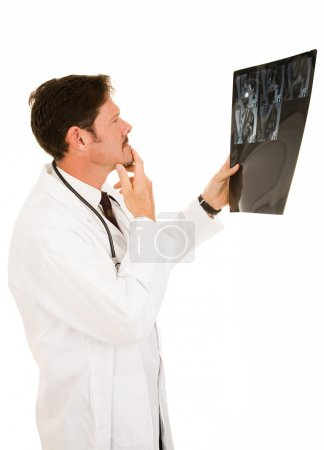 Doctor Reviewing MRI Results