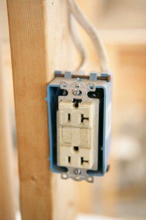 Electrical Receptacle Closeup