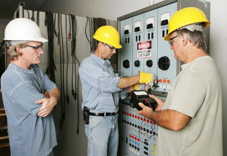 Electrical Team at Work
