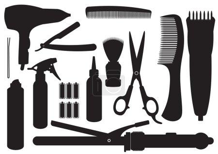 Illustration pour Ensemble vectoriel d'accessoires de coiffure - image libre de droit