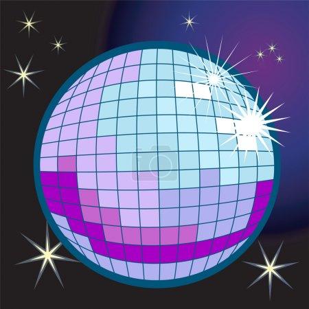 Illustration boule disco